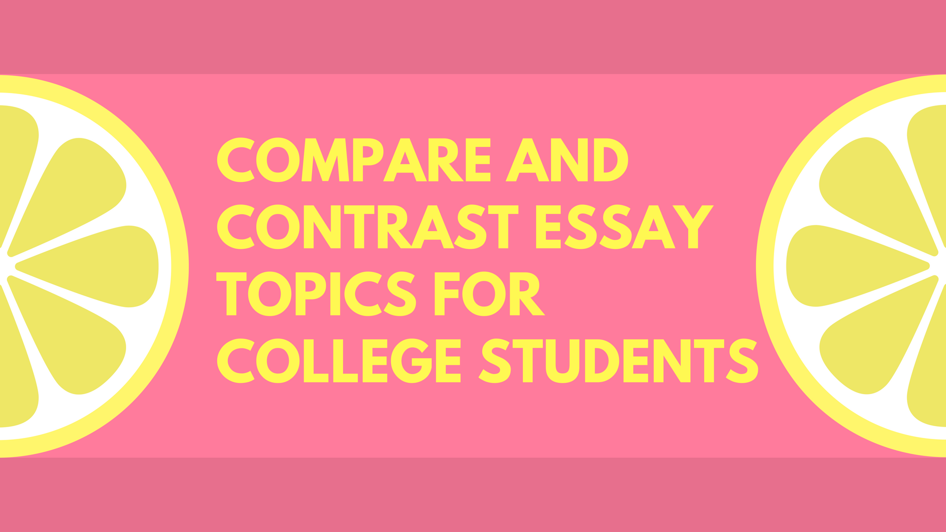 compare and contrast essay topic ideas Whether your students are practicing essay writing or learning to analyze cinema,  compare and contrast essays about movies can be a wonderful.