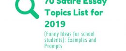 70 Satire Essay Topics List for 2019: Examples and Prompts